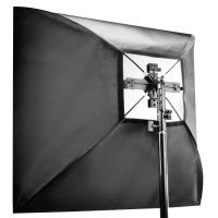 walimex Set 4f. Blitzhalter inkl. Softbox 90x90cm Nr. 18656