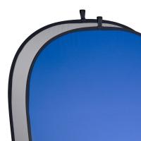 walimex pro 2in1 Falthintergrund grau/blau 150x200 Nr. 17697