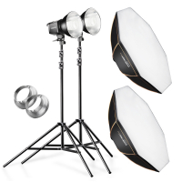 walimex pro 2er Set Daylight 250S+ Softbox+ Stativ Nr. 20337