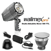 walimex pro Mover 400 TTL studioflash w/ battery No. 21967