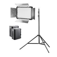 walimex pro LED Versalight 500 Bi Color Set inkl. 1x Stativ und 2x Akku  Nr. 22042
