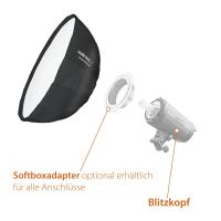 Walimex pro Studio Line Beauty Dish Softbox QA65 mit Softboxadapter Walimex C & CR Nr. 22607