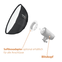 Walimex pro Studio Line Beauty Dish Softbox QA105 mit Softboxadapter Multiblitz V Nr. 22636