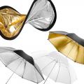 walimex Doppelreflektor + Schirme silber/gold/weiß Nr. 13645