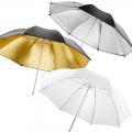 walimex 3 Reflex/Transluc. Light Umbrellas, 84cm No. 14956