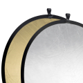 walimex Foldable Reflector golden/silver, Ø107cm No. 17690
