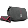 mantona Cool Bag Kameratasche schwarz/rot Nr. 17940