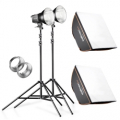 walimex pro 2er Set Daylight 250S+ Softbox+ Stativ Nr. 20338