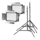 walimex pro LED Versalight 500 Daylight 2er Set 2x Leuchte 2x Stativ Nr. 22037